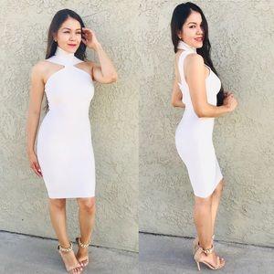 Indie Xo White Lycra Dress Size Small